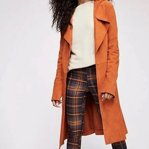 Brenda Knight for Free People Suede Trench Coat